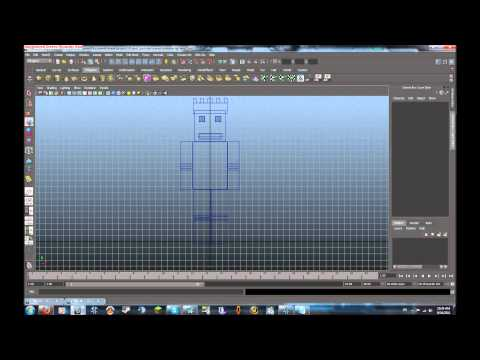 Autodesk maya tutorial minecraft character modeling rigging part 4