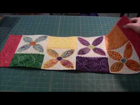 Daisy Table Runner - Machine Embroidery
