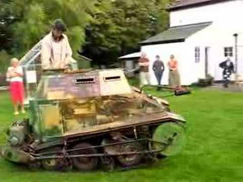 Chris Dobrowolski's wooden tank