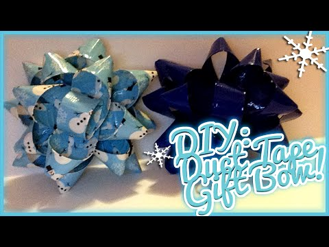 ❄ Holiday DIY: Duct Tape Gift Bow! Tutorial! ❄
