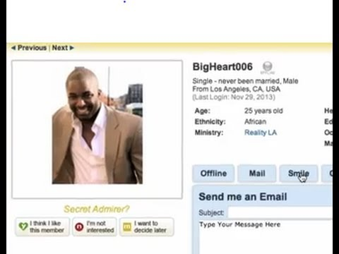 How To Send a Smile   ChristianMingle Site Features