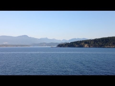 BC Ferry Ride - Horseshoe Bay to Departure Bay in Nanaimo BC with a Harbour Air Seaplane Spotting