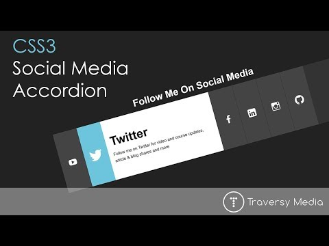 Social Media Accordion With CSS3 Transitions