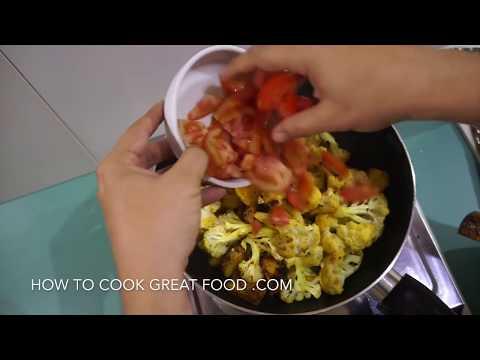 🇬🇧🇮🇳🍅 🍆 Aloo Gobi Recipe - Potato Cauliflower Indian Vegan Curry Vegetarian