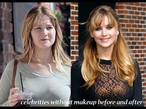 Top 60 Hollywood Celebrities Makeup And without makeup