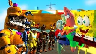 nightmare animatronics vs spongebob gmod fnaf sandbox funn