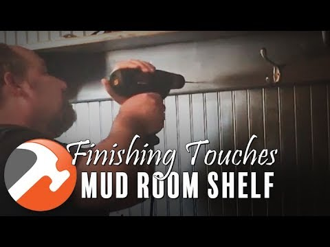 Mud Room Finished! Finishing Touch: Coat Hooks - I CAN MAKE THAT