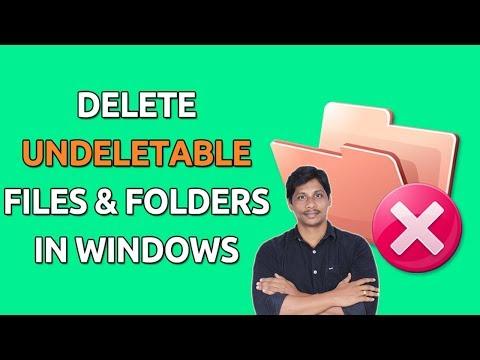 How to delete undeletable files | Hindi Tech Tuts