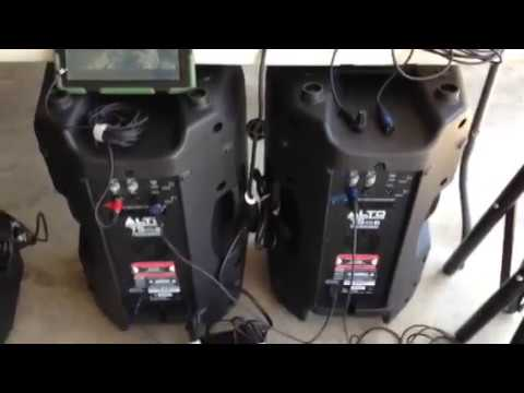 How to connect two Alto brand PA speakers without a mixer