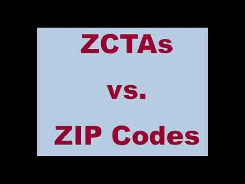 ZIP Code Databases: the Difference between a ZCTA and ZIP Code