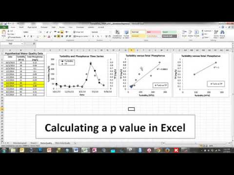 Calculating a p Value in Excel 2010