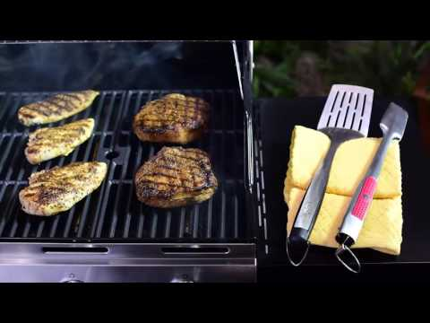 Char Broil 4 Burner Gas Grill with Side Burner Stainless Steel