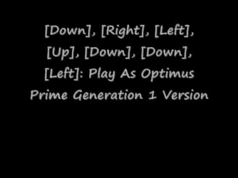 Transformers The Game Playstation 2 Cheat Codes