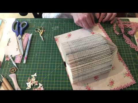 Book folding birdcage decorating process