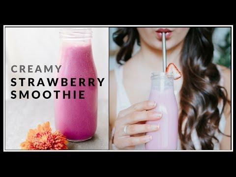 Vegan Strawberry Smoothie | dairy-free, vegan & healthy | Delicious Nutrition