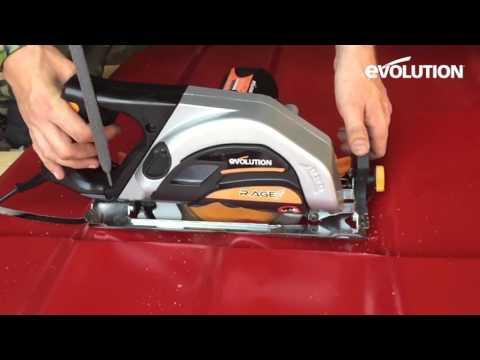 Evolution Rage 185mm Circular Saw : How to cut through sheet metal!