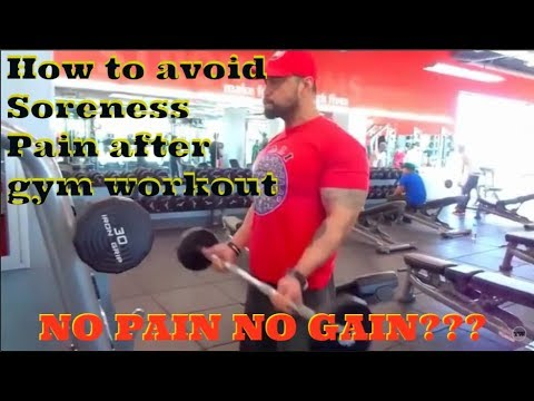 How to avoid Soreness Pain after gym workout for beginners