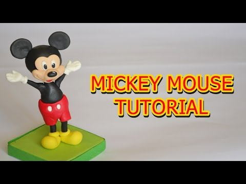 MICKEY MOUSE CAKE TOPPER TUTORIAL FONDANT - topolino in pasta di zucchero torta decorata