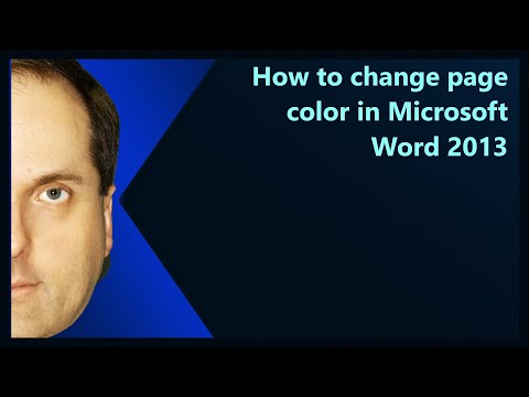 How to change page color in Microsoft Word 2013