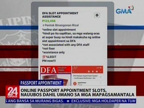 Online Passport Apppointment slots, nauubos dahil umano sa mga mapagsamantala