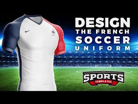 Design the French football Kit & Jersey of World cup 2018 | Football Photoshop Tutorial