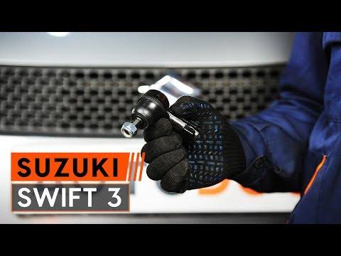 How to replace track rod end onSUZUKI SWIFT 3[TUTORIAL AUTODOC]