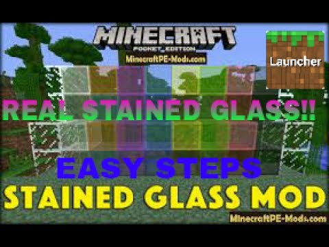 HOW TO GET REAL STAINED GLASS MOD (MCPE)!