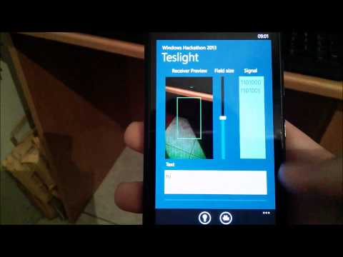 Teslight - Send and Receive text with camera and flashlight