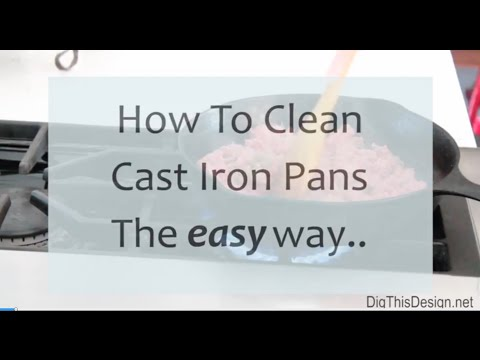 Using a stainless steel chainmail gentle scrubber  for cast iron pans