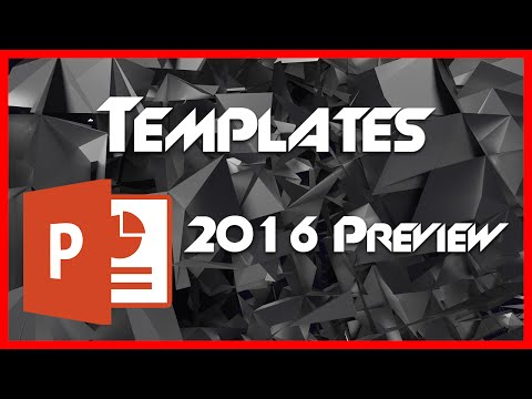Templates and Template Customization - 2 - Introduction to PowerPoint 2016 Preview Tutorial