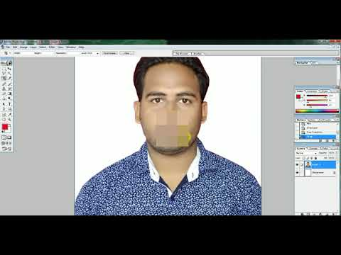 How to Change White Background Passport Size PHOTOon  ADOBE PHOTOSHOP 7.0 by MyResearch