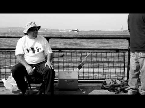 Urban Fishing, Battery Park, New York City