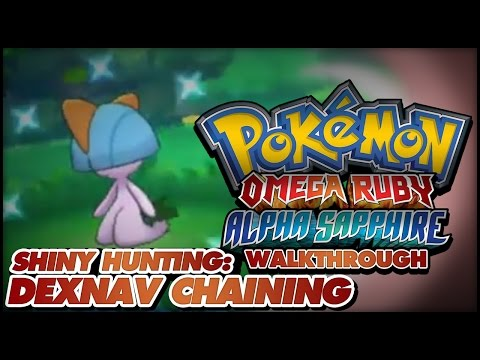 Pokémon Omega Ruby and Alpha Sapphire Walkthrough - Shiny hunting guide: How to chain with DexNav!