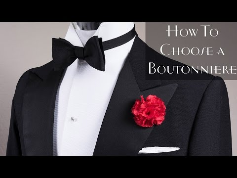 Lapel Flower Pin & Boutonniere Basics - How To Find The Right One For You