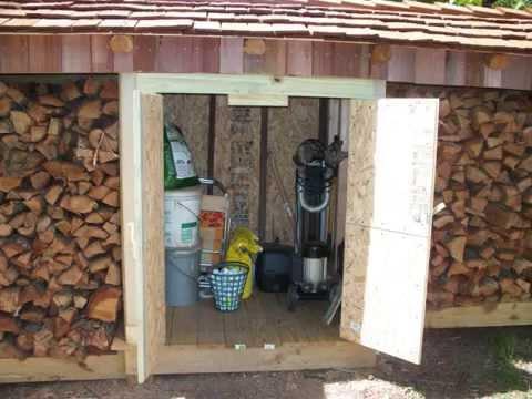 Firewood storage shed