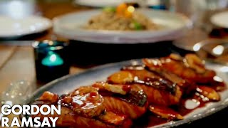 Teriyaki Salmon with Soba Noodle Salad | Gordon Ramsay