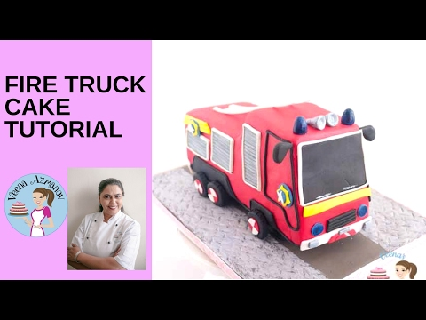 Fire Truck Cake Tutorial - How to make a Fire Truck Cake - Fireman Sam Fire Truck Cake