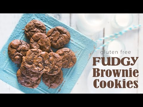 Gluten Free Fudgy Brownie Cookies