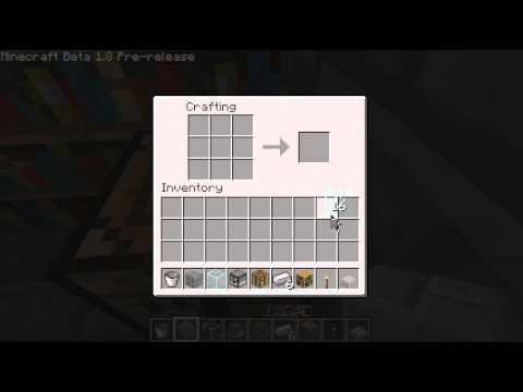 Minecraft 1.8 : How to make Glass panes and iron bars