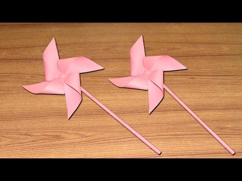 Paper Windmill Making - Easy Diy Tutorial on How to Make a Wind Turbine with Paper