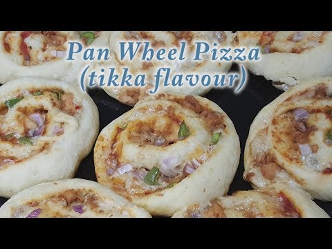 pan wheel pizza (tikka flavour)