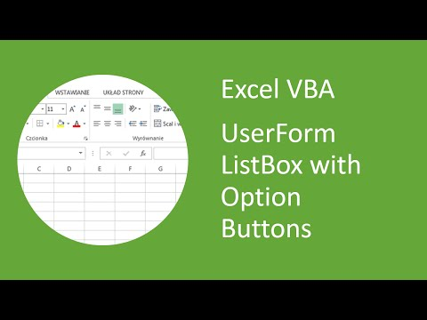 Excel VBA UserForm Listbox with Option Buttons