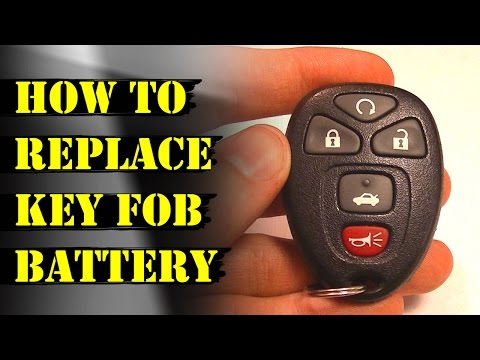 How to Replace Remote Key Fob Battery (Chevy Malibu & GM)