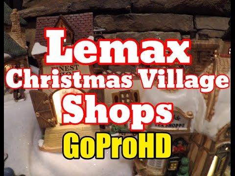 Lemax Christmas Village Shops New (GoPro HD) - Christmas Shops Lemax
