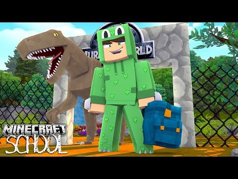 Minecraft School - VISITING JURASSIC PARK WITH THE CLASS!