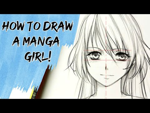 How to draw a Manga girl —slow tutorial