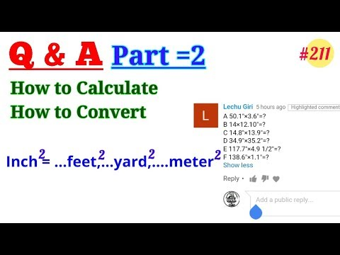 How to Convert inch2 to feet2 and yard2 || Square Inch to Square Feet || Square Feet to Square Yard