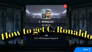 How To Get RONALDO IN PES 2018 18C 100 Working Trick Is Here,X4OOT