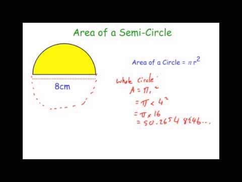 Area of a Semi Circle