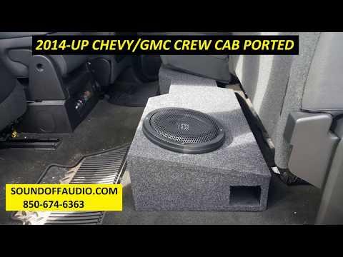 2014 CHEVY/GMC CREW CAB PORTED SPEAKER BOX
